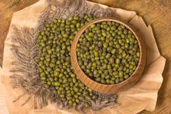 Green mung beans Stock Photo