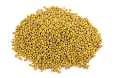 Green mung beans. Some green mung beans on the white background Stock Image