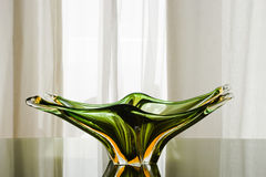 Green Murano Glass Plate Stock Photography