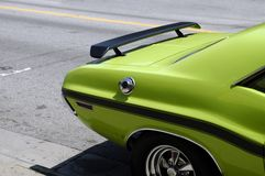 Green Muscle Car Royalty Free Stock Image