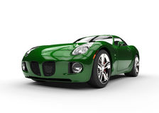 Green Muscle Car - Beauty Shot Stock Photos