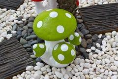 Green mushrooms Stock Photo