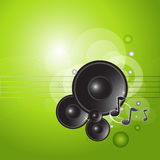 Green Music Background Royalty Free Stock Images