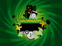 Green Music Background Stock Image