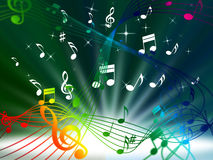 Green Music Background Means Tune Sounds And Piece. Green Music Background Meaning Tune Sounds And Piece Royalty Free Stock Photo
