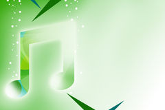 green music note abstract background Stock Images