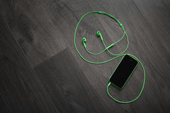 Green music player Royalty Free Stock Photos