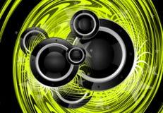 Green Music Vortex Royalty Free Stock Photo