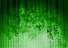 Green musical design Stock Image