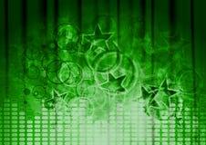 Green Musical Design Stock Image