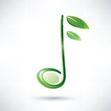 Green musical note Royalty Free Stock Photo