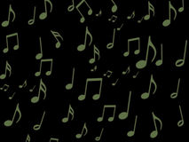 Green Musical note on black screen wallpaper. For your design stock illustration