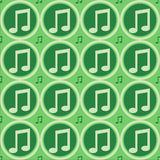 Green musical notes pattern Stock Images