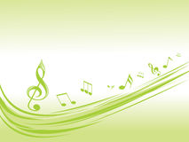 Green musical waves illustration Royalty Free Stock Photo