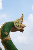 Green Naga. With blue sky background Royalty Free Stock Photos