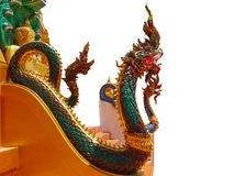 Green nagas statues Stock Photography