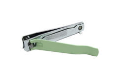 Green nail clippers Royalty Free Stock Images