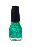 Green nail polish Royalty Free Stock Images