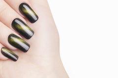 Green nail polish. Stock Image