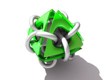 Green nano element Royalty Free Stock Image