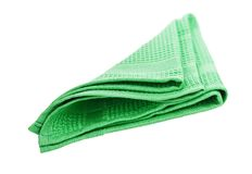 Green napkin Royalty Free Stock Photo