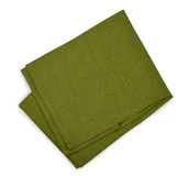 Green napkin Stock Image
