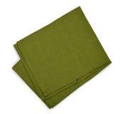 Green napkin Stock Image