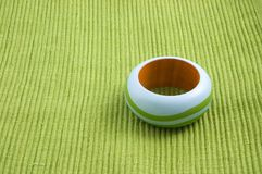 Green napkin ring. An isolated on green napkin ring Stock Photos
