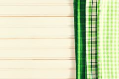 Green napkins for St Patrick`s Day Stock Photos