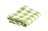 Green napkin Royalty Free Stock Images