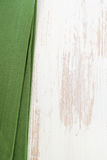 Green napkin on white background Royalty Free Stock Photography