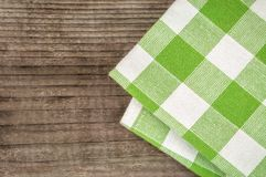 Green napkin texture Stock Photography