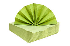Green napkins. Green napkins isolated on a white background Stock Images