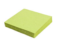 Green napkins. Royalty Free Stock Photos