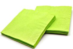 Green napkins Stock Photography