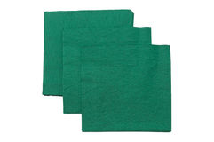 Green napkins Stock Images