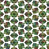 Green native pattern Royalty Free Stock Photography