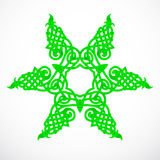 Green native star ornament Stock Image