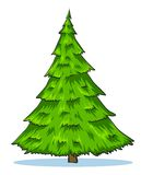 Green natural christmas tree illustration Royalty Free Stock Images