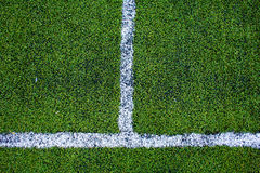 Green natural grass of a Football soccer field Royalty Free Stock Photography
