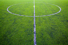Green natural grass of a Football soccer field Royalty Free Stock Images