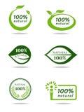 Green natural leaf banner sign vector set design Royalty Free Stock Images