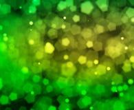 Green natural pentagon bokehs background stock illustration