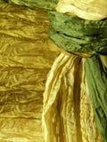 Green natural silk Stock Photos
