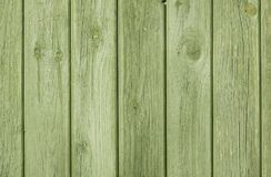 Green Natural Wood Plank Fence With Visible Grain  Background/ Backdrop Stock Photography