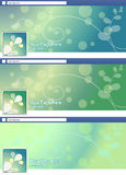 Green nature abstract face book page cover banner and background Stock Photography