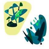 green nature abstraction royalty free illustration
