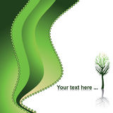 Green nature background. Eco concept, vector illustration Royalty Free Illustration