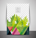 Green Nature Concept Print Template Stock Photo