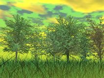 Green nature - 3D render Stock Photos